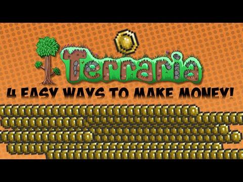 Terraria : 4 Easy Ways to Make Money!