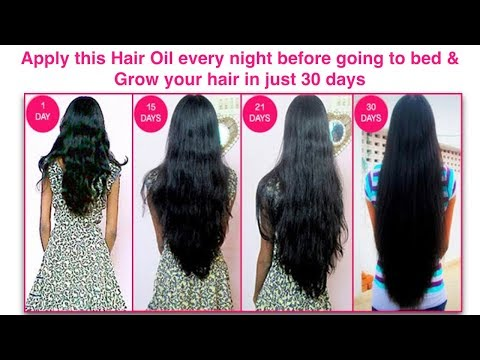 Apply this hair oil every night before going to bed and grow your hair in just 30 days