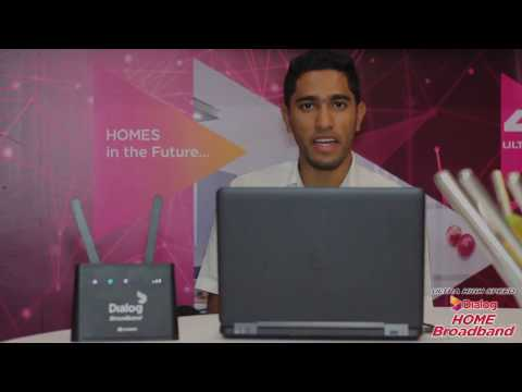 Setting up the Dialog Home Broadband Router