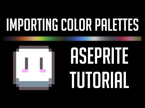 How to Import and Create Custom Color Palettes | Aseprite Tutorial