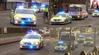 Police Car Escorts of High Security Prisoners Compilation - Great Sirens.