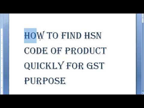HSN code Find quickly of product for gst purpose