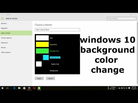 How to change windows 10 background color