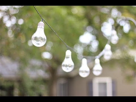 How To Hang String Lights On A Deck
