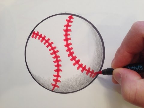 How to Draw a Baseball - Easy and Fast