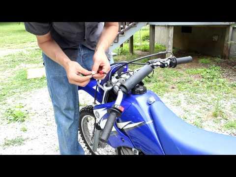 Changing front Fork Oil on dirt bike Yamaha TTR90 shock spring spacer too!
