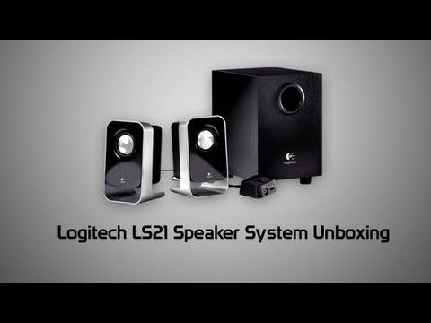 Logitech LS21 2.1 Stereo Speaker System Unboxing