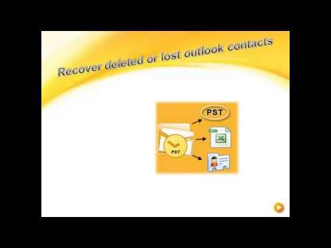 Recover Deleted or Lost Outlook contacts