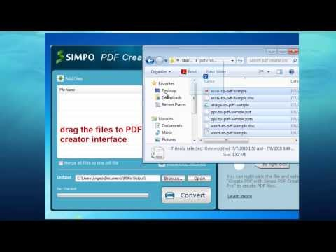 how to create one pdf from microsoft word excel powerpoint and image