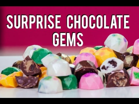 How To Make SURPRISE CHOCOLATE GEMS! Filled with COOKIE DOUGH, OREOS, AND CAKE!