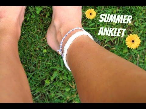 DIY Summer Anklets | ft. My Sister