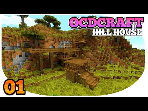 Minecraft PS4: Survival | OCDCRAFT | Hill Top House | BABY ZOMBIE RIDING A CHICKEN!! (E1)