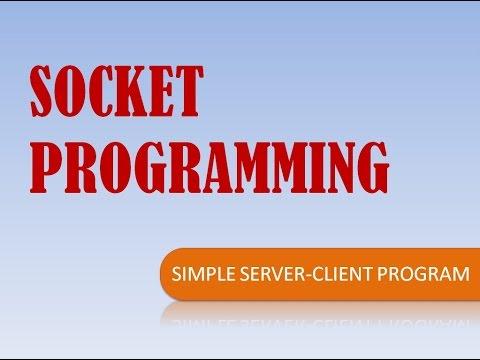 Simple Client-Server Program- SOCKET PROGRAMMING IN JAVA