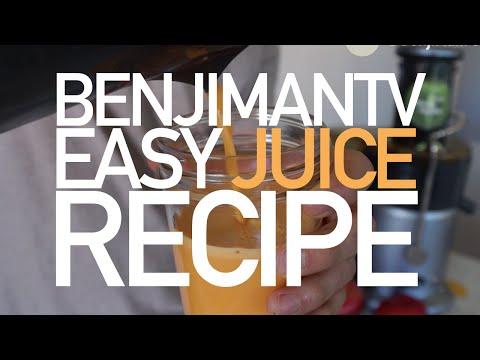 Juice Recipe for Beginners (Basic & Quick)- BenjiManTV