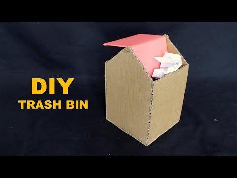 How to Make Trash Bin From Cardboard - DIY Trash Bin