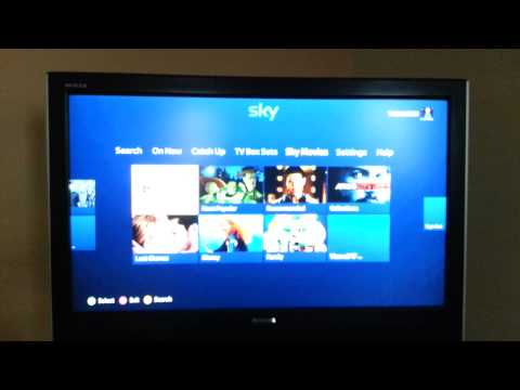 How to set up sky on xbox 360