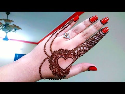 Mehndi Designs Heart : Heart mehndi designs latest hearts and leaves with