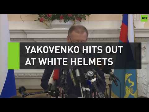 Yakovenko hits out at White Helmets during press conference