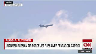 Unarmed Russian jet flies over US Capitol, Pentagon
