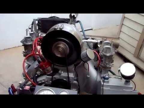 Bill's 2800cc vw type 4 engine test run #1