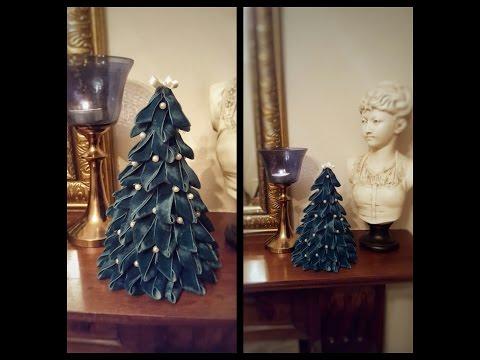 How to make a  small Christmas tree with ribbon, DIY Christmas tree