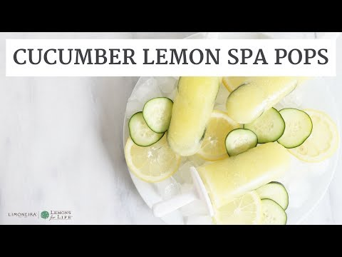 Cucumber Lemon Spa Popsicles | Quick, Healthy Recipe | Limoneira