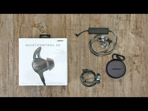 Wireless Noise Canceling Earbuds - Bose QuietControl 30 Review & Comparison