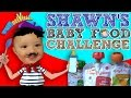 Shawn's BABY FOOD Challenge!  Baby's First Time Trying! (FUNnel Vision Eating Fun!)