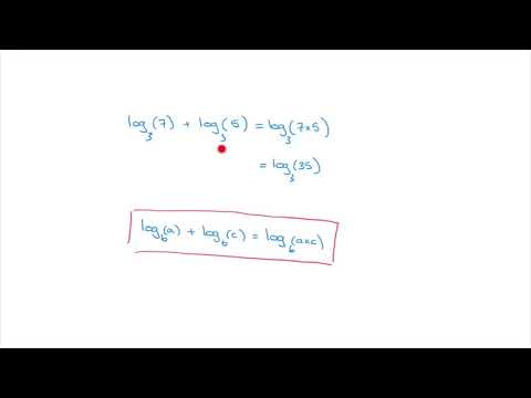 Logarithms - Addition Rule for Logarithms - Simplifying Logarithmic Expressions - Tutorial 6