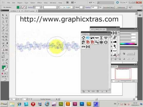Illustrator Symbol sprayer, use and hints and tips tutorial (CS5 CS4 CS3 CS2 etc)