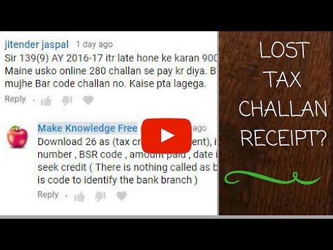 HOW TO FIND DETAILS OF LOST TAX CHALLAN FOR FILLING RETURN|  JASPAL