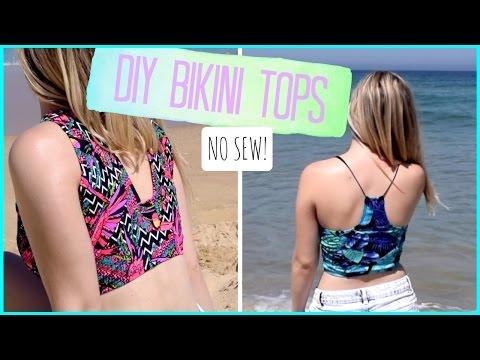 DIY Bikini Tops from Bikini Bottoms! NO SEW.