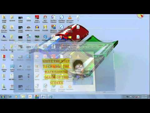 Write the step to change the background image of the screen by shams alam mpeg4