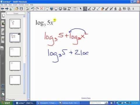 Properties of Logarithms (Part 3) - LT10