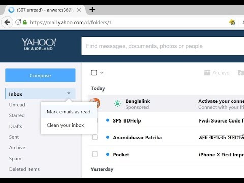 How to mark thousands of emails as read in Yahoo within a minute