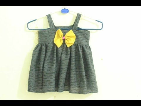 Baby Dress With Bow | DIY Frock For Kids