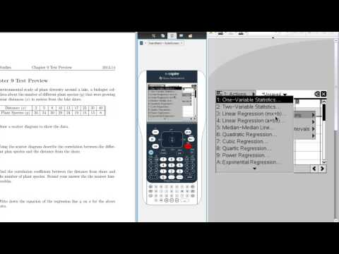How to Find Correlation Coefficient on the TI Nspire