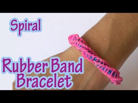 DIY crafts : Spiral Rubber Band Bracelet (without loom) - Ana | DIY Crafts