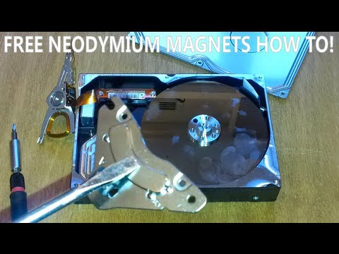 neodymium magnets for free - how to - very strong!