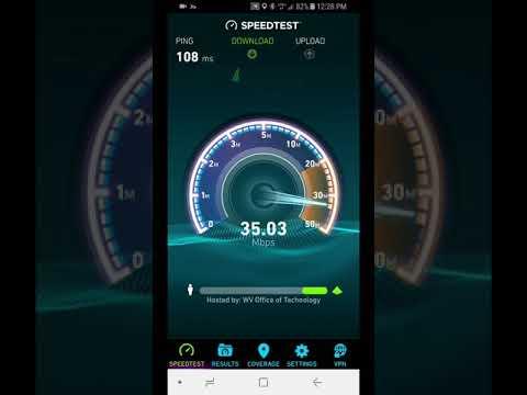Verizon Page Plus Speed Test Ironton Ohio Downtown Area 02/17/18