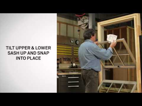 How to Tilt Andersen® A- Series Tilt-Wash Double-Hung Windows for cleaning