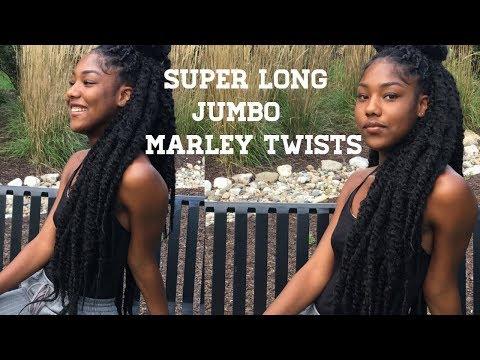 Super Long Jumbo Marley Twists Tutorial