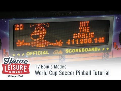 How to Play World Cup Soccer Pinball: TV Bonus Modes