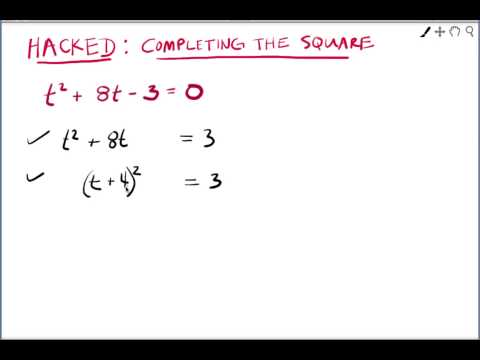 Hacked: Intro to completing the square