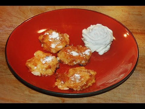 Banana Fritters - Flambéed with Rum 1960's Restaurant Style dessert recipe
