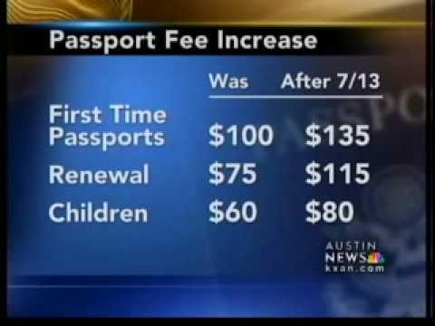 Passport fees up substantially Tuesday