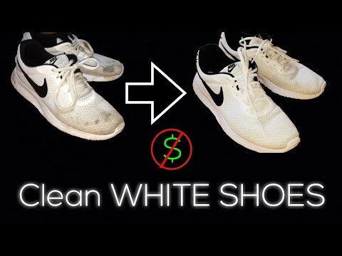 How To CLEAN WHITE SHOES for FREE! (Household Items)
