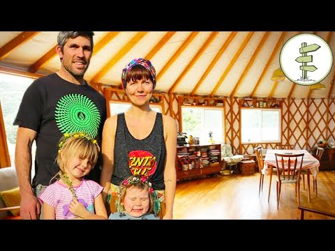 Family Quits City Life to Live Off-Grid in a Giant Yurt