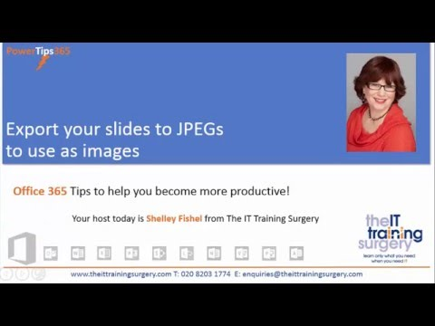 Save PowerPoint slides as JPEGs