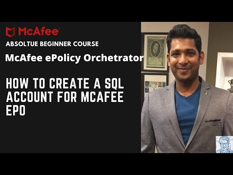 How to create a SQL Account for Mcafee ePO